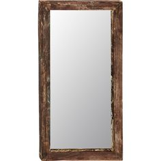 Add vintaged appeal to your entryway or powder room with this lovely wall mirror, featuring a weathered finish and classic silhouette.
