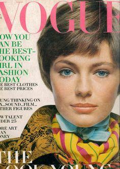 Jacqueline Bisset, cover by Bert Stern, US Vogue, Aug. 1969