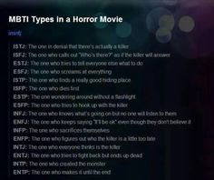 MBTI in a Horror Movie