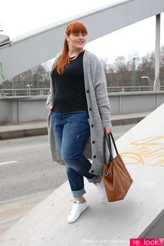 How To Wear Spring Outfits Casual Boyfriend Jeans 35 Best Ideas Fashion 2017, Curvy Fashion, Trendy Fashion, Plus Size Fashion, Fashion Outfits, Fashion Spring, Sneakers Fashion, Fashion Clothes, Fashion Ideas