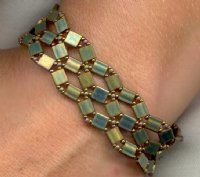 Crossroads Bracelet made with till and seed beads at Mana Beads