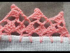 ORILLA O PUNTILLA PARA SERVILLETA No. 15 PIQUITOS - YouTube Crochet Shoes Pattern, Crochet Edging Patterns, Crochet Lace Edging, Crochet Borders, Crochet Trim, Crochet Doilies, Crochet Flowers, Picot Crochet, Crochet Ripple