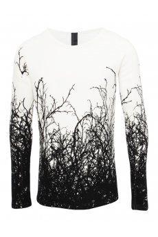 GARETH PUGH* Tangled Tree Print Oversized Sweatshirt Off White