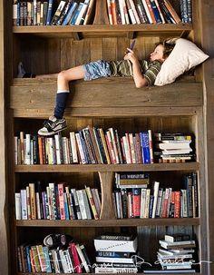 dream, book nooks, reading spot, bookcas, librari