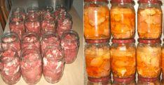 Moravská vepřová konzerva do nepohody: Až ochutnáte tuto delikatesu, na masovou konzervu v obchodě se už ani nepodíváte! Sausage, Mason Jars, Food And Drink, Meat, Vegetables, Beef, Sausages, Mason Jar, Vegetable Recipes