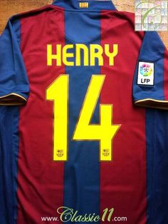 ea0680af4 Relive Thierry Henry s 2007 2008 La Liga season with this original Nike Barcelona  home football