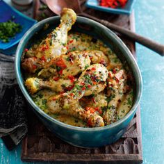 Indonesian baked yellow chicken drumstick curry