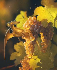 "Fruit Dragons, les créatures ""fantasy"" de GaudiBuendia : grape"