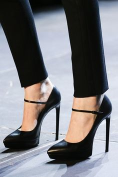 Saint Laurent - the perfect Mary Jane Pump - love the cut of the instep showing the arch - how sexy is that - Yves must be proud.