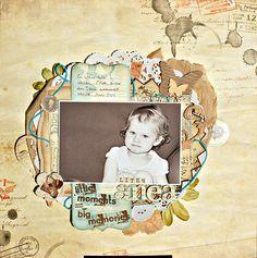 Bo bunny et deters.  Little Anea - Scrapbook.com