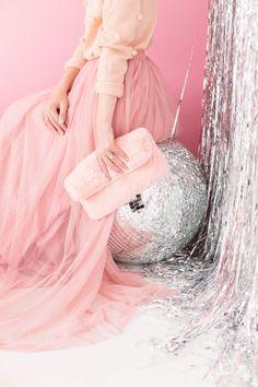 Pink Faux Fur Clutch via Studio DIY