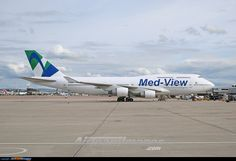 Air Atlanta B747-400 TF-AMV has been leased to Med-View Airlines and was rolled out of the Air Livery paintshop at Manchester in full scheme. The aircraft will be used to operate the London Gatwick - Lagos route.