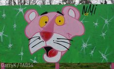 Urban Art a la cARTe: Street Art by Nami (4) - Pink Panther Street Art London, Weston Super Mare, Bethnal Green, 4th Street, Brick Lane, Pink Panthers, Art Uk, Gloucester, Art Festival