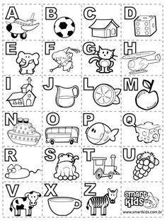 letras do alfabeto para colorir com desenhos