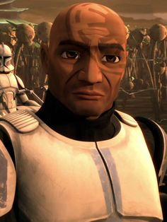"CT-5597 (""Jesse"") is a clone trooper who served in the Grand Army of the Republic's 501st Legion"