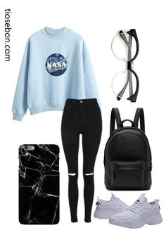 Cute,nerdy outfit You are in the right place about teenager outfits dressy H Cute Middle School Outfits, Cute Lazy Outfits, Cute Outfits For School, Cute Swag Outfits, Outfits For Teens, Rock Outfits, Emo Outfits, Back To School Outfits Highschool, Scene Outfits