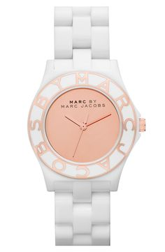 Marc by Marc Jacobs White Resin and Rose! WANT THIS!
