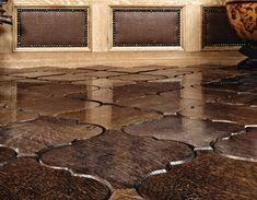 Wood tile flooring...LOVE THIS