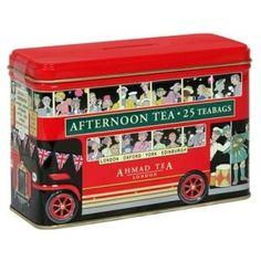 Ahmad Tea London English Afternoon Tea in Bus Tin - 25 Bags English Breakfast London, London High Tea, Ahmad Tea, English Afternoon Tea, Different Types Of Tea, Cool Packaging, London Bus, Tea Tins, Tea Caddy