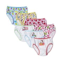 Handcraft Little Girls' Hello Kitty Underwear (Pack of Assorted: Purrfect style. She'll be the cat's meow in these girls' Hello Kitty briefs. In white/multi. Hello Kitty Cake, Girls In Panties, Cat Sweatshirt, Kids Boxing, These Girls, Bikinis, Fitness, Little Girls, Kids Fashion