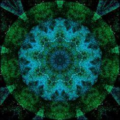 Blue and green mandala.
