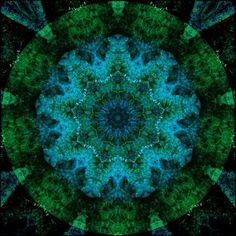 Blue and green mandala.