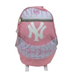 New York Yankees - Large Logo Pink Mini Backpack by MLB. $24.95. From the New York Yankees comes this mini backpack in pink featuring the New York Yankee's logo. Great mini backpack for Yankee's fans.