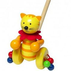 Looking for a baby gift orsomething really special this Christmas? What about this gorgeous push along Cat from Orange Tree Toys.Children love hearing this sound as they take their first steps.The push alongs are easy to use, great durable material and lots of fun.Choose from a selection of fun characters or collect them all!