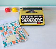Máquina de Escrever - Blog Senhora Inspiração! www.senhorainspiracao.blogspot.com.br