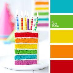 happy color scheme   rainbow