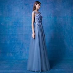 Formal+Evening+Dress+A-line+Scoop+Floor-length+Lace+/+Tulle+with+Flower(s)+/+Lace+/+Pearl+Detailing+/+Sash+/+Ribbon+/+Sequins+–+USD+$+89.99
