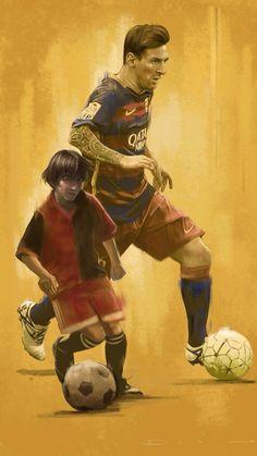 745. Illustration: Messi #fcblive [by @br_uk]