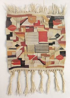 Lore Leudesdorff Bauhaus weaving, New-Friends weavings, 2012 Textile Tapestry, Textile Fiber Art, Tapestry Design, Tapestry Weaving, Textile Design, Textile Artists, Tapestries, Weaving Textiles, Weaving Art