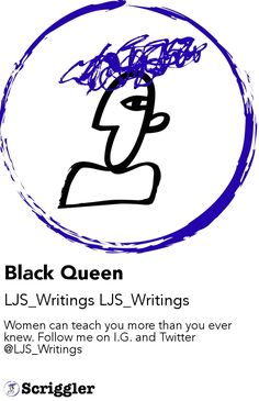 Black Queen by LJS_Writings LJS_Writings https://scriggler.com/detailPost/story/60008 Women can teach you more than you ever knew. Follow me on I.G. and Twitter @LJS_Writings