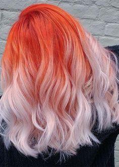 Awesome Orange Hair Color Ideas for Women to Show Off in 2019 – Tintes de pelo… - Kurzhaarfrisuren Cute Hair Colors, Pretty Hair Color, Beautiful Hair Color, Hair Color Blue, Hair Dye Colors, Color Streaks, Hair Streaks, Bright Hair Colors, Aesthetic Hair