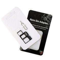 Nano SIM Card Adapter Micro SIM Card Adapter Standard SIM Card Adapter For Xiaomi redmi note 3 <font><b>Lenovo</b></font> <font><b>Smartphone</b></font> With Eject Pin Price: USD 1 | UnitedStates