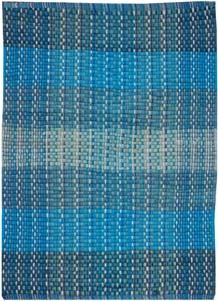 Chindi Rugs–100% Cotton Shag Rugs, White Color Chindi Shag Rugs, Blue Color Chindi Shag Rugs, Flat Weave Rugs