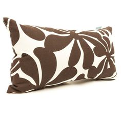 Brown Rhodo patterned decorative throw pillow.  Rectangular throw pillow creates an interesting shape and pairs well with other pillows on your furniture or bed.  #pillows #throwpillows #brown http://www.readingpillowsplus.com/products/small-throw-pillow-chocolate-rhodo