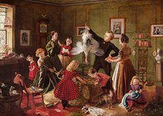 Christmas Art - The Christmas Hamper  by Robert Braithwaite Martineau