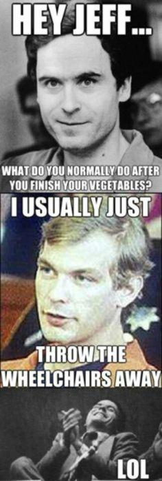 Serial killer meme vegetables