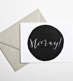 Hooray Calligraphy Notecards