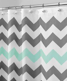 Look what I found on #zulily! Gray & Aruba Chevron Shower Curtain #zulilyfinds