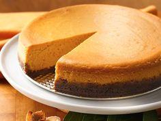Pumpkin-Caramel Cheesecake--In the oven now, looks good enough to make again so far!