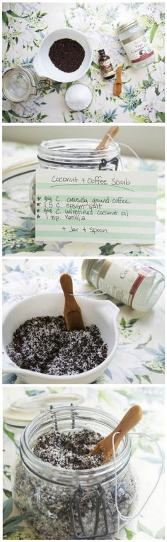 Coconut and Coffee Body Scrub - 14 All-Natural DIY Scrub Recipes to Add A Healthy Glow to Your Skin