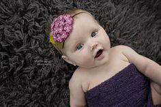 Bebés fieltro flor diadema rosa violeta venda vino ciruela