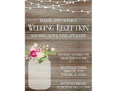 Reception Only Wedding Invitations | Wedding | Pinterest | Reception ...