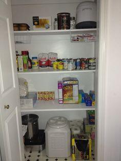 Closet Turned Pantry