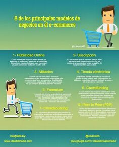 8 modelos de negocios imprescindibles en comercio electrónico #infografia #ecommerce
