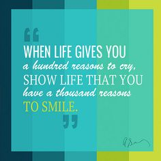 How about a million ways to smile?? :) :)