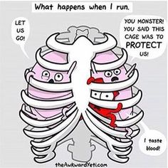 Running with asthma.